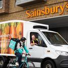 Deliveroo will transport pizzas from Sainsbury's branches to customers' homes (Deliveroo)