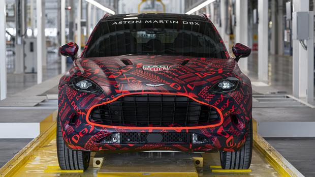 An Aston Martin DBX rolling off the production line (Aston Martin / PA)