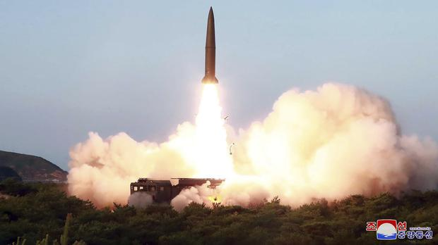 A test of a missile launch in North Korea (Korean Central News Agency/Korea News Service via AP)