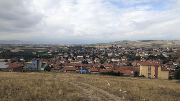 A view of Kalfat, a village in the Cankiri province, 100 kilometers (62 miles) north of the Turkish capital Ankara which Boris Johnson can trace his Turkish ancestry to (Mehmet Guzel/AP)