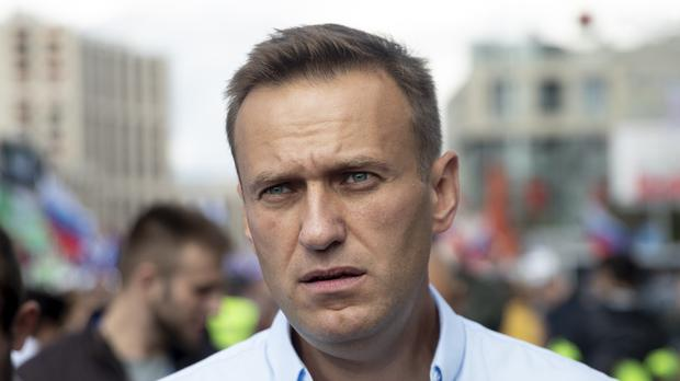 Russian opposition leader and activist Alexei Navalny has been admitted to hospital after suffering a severe allergic reaction (Pavel Golovkin/AP)