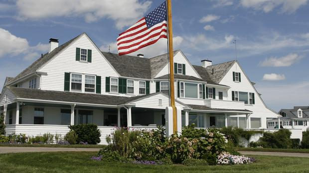 The main home in the Kennedy family compound in Hyannis Port (AP)