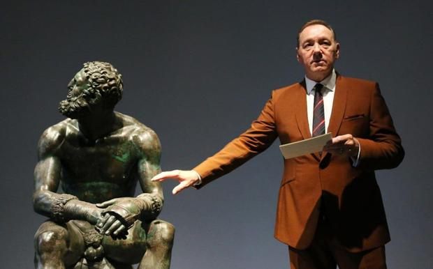 READING: Kevin Spacey in Rome last Friday