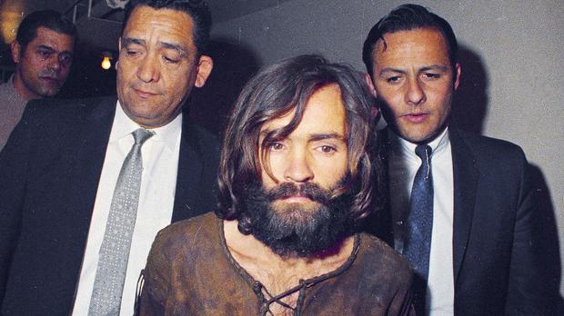 Charles Manson is escorted to his arraignment (AP)