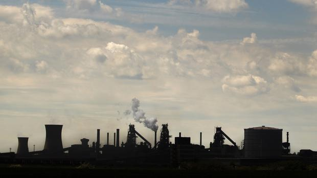 The steelworks plant in Scunthorpe (PA)