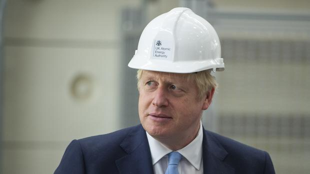 EMBARGOED TO 1800 THURSDAY AUGUST 8 Prime Minister Boris Johnson during a visit to the Fusion Energy Research Centre at the Fulham Science Centre in Abingdon, near Oxford. (PA)