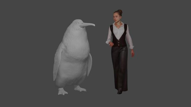 Similar size: The monster penguin is believed to have stood about 1.6 metres tall – as big as some humans