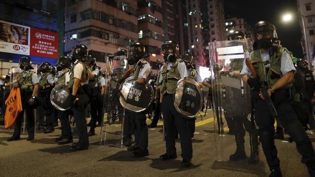 Police in Hong Kong said they are not aware of any plans for forces from China to join their efforts to tackle protesters (Vincent Yu/AP)
