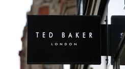 Ted Baker has ended its relationship to create and sell clothes and accessories for children with Debenhams (PA)