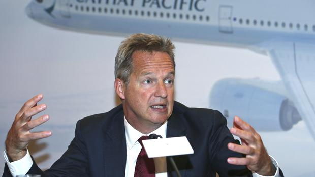 Rupert Hogg has resigned from his role at Cathay Pacific (AP)