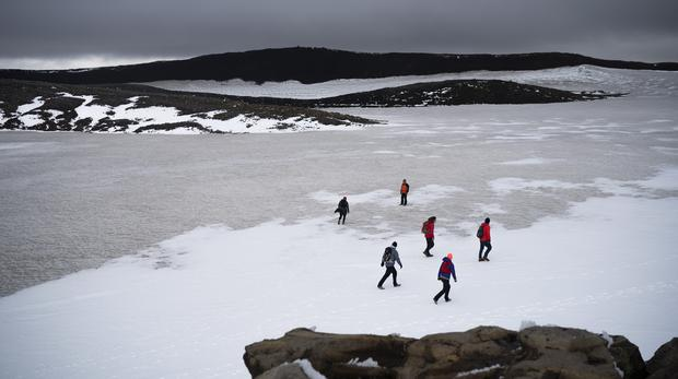 Officials, activists hold funeral for Iceland's first glacier to have died