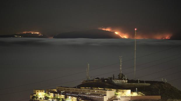 Thousands of people have been evacuated due to the wildfire on Gran Canaria (Andres Gutierrez/AP)