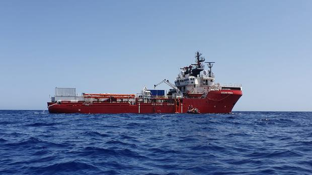 The Ocean Viking (Photo SOS Mediterranee via AP)