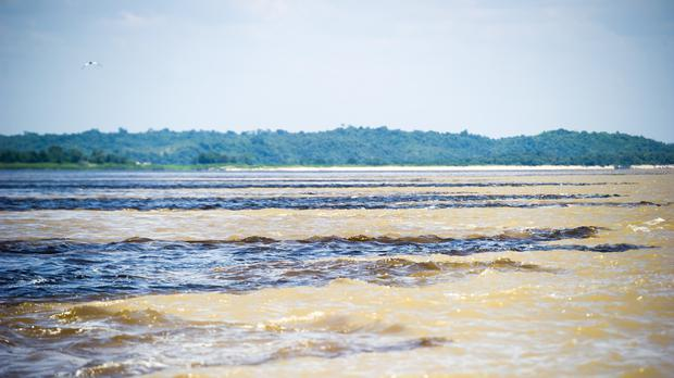 The meeting of the waters on the Amazon in Manaus, Brazil. (Adam Davy/PA)