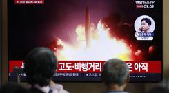 North Korea has fired projectiles off its east coast, the South claim (AP Photo/Lee Jin-man)