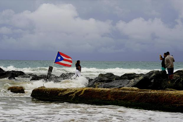 Some flooding was reported in the Puerto Rican islands of Vieques and Culebra (AP Photo/Ramon Espinosa)