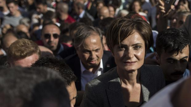 Canan Kaftancioglu is the head of Turkey's secular Republican People's Party in Istanbul (AP)