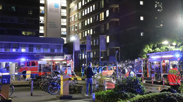 German hospital fire leaves one dead and 19 injured