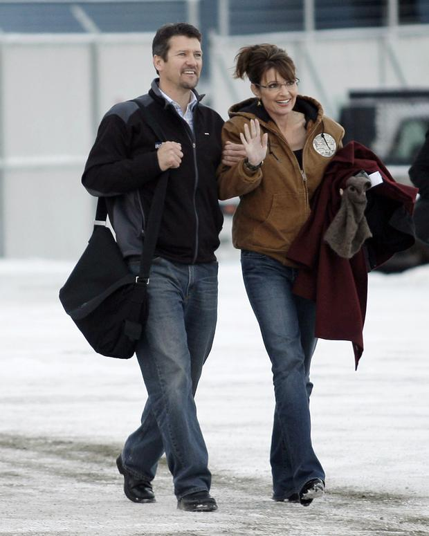 The Palins head to Wasilla to vote in the 2008 presidential election (Ted S. Warren/AP)