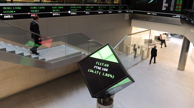A bid for the London Stock Exchange Group buoyed the London markets (Nick Ansell/PA)