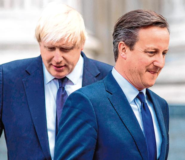 Offered a top-five job: Then prime minister David Cameron with Boris Johnson in 2015. Photo: Jack Taylor/AFP/Getty Images