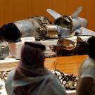 The Saudi military displays what it says are an Iranian cruise missile and drones used in a recent attack on its oil industry (Amr Nabil/AP)