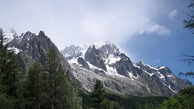 Risk of part of the Planpincieux glacier breaking off has prompted Italian authorities to forbid hikers from a section of the Val Ferrat area (Randall Hackley/AP)