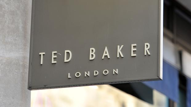 File photo dated 06/01/16 of a shop sign for Ted Baker. The company has appointed a new CFO – Rachel Osborne.