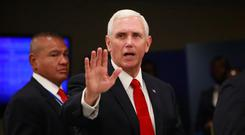 Sticking to the script: US Vice-President Mike Pence. Photo: Yana Paskova/Reuters