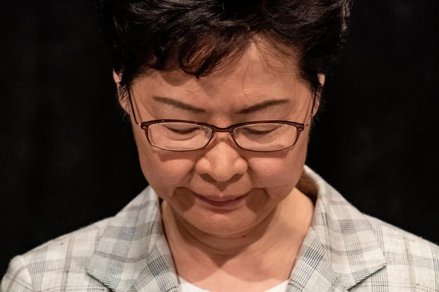Promising dialogue: Leader Carrie Lam was trapped in a stadium for more than four hours on Thursday