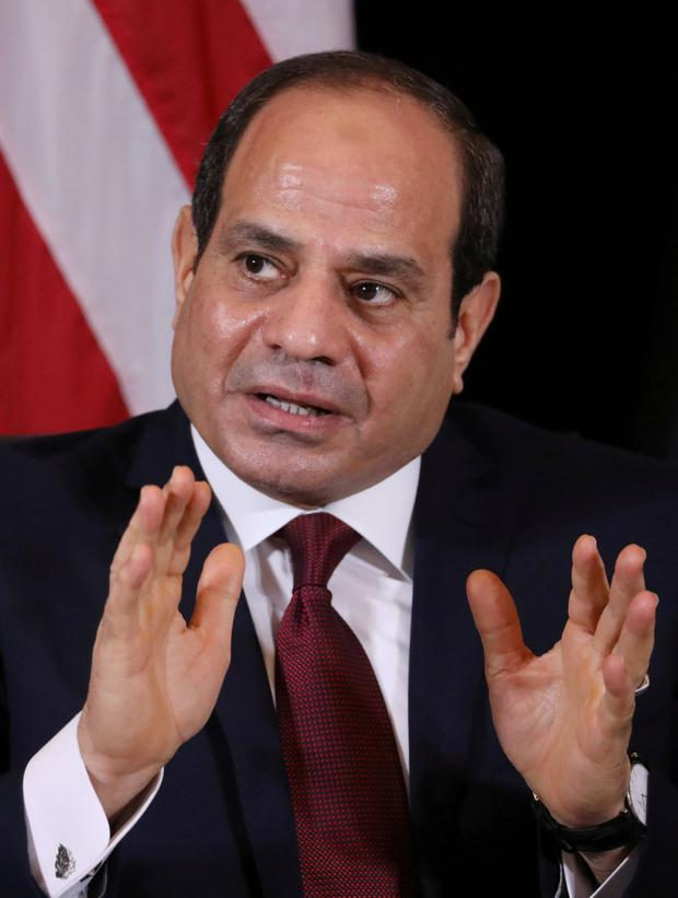 Under pressure: Egypt's President Abdel-Fattah el-Sisi is facing growing protests. Photo: Jonathan Ernst/Reuters