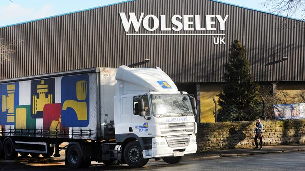 Wolseley owner Ferguson has seen shares jump higher after it revealed a hike in annual profits (Anna Gowthorpe/PA)
