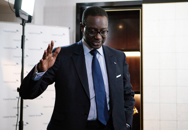 Row: Tidjane Thiam, CEO of Credit Suisse. Photo: Giulia Marchi/Bloomberg