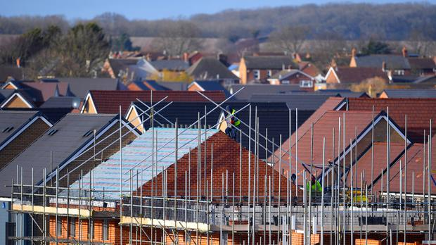 The number of new build homes started in England fell by 8% between April and June compared with the same period a year earlier, Government figures show (PA)