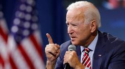 Joe Biden hopes to fend off rivals by spending big on ads. Photo: Reuters