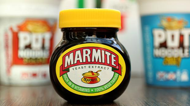 A jar of Marmite and other Unilever products as the consumer giant announces plans to slash its use of plastic (PA)