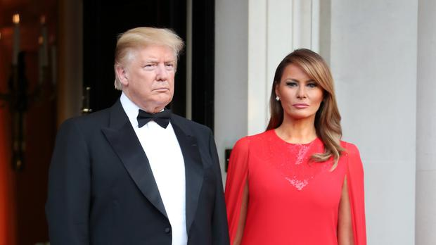 US President Donald Trump and his wife Melania (Chris Jackson/PA)