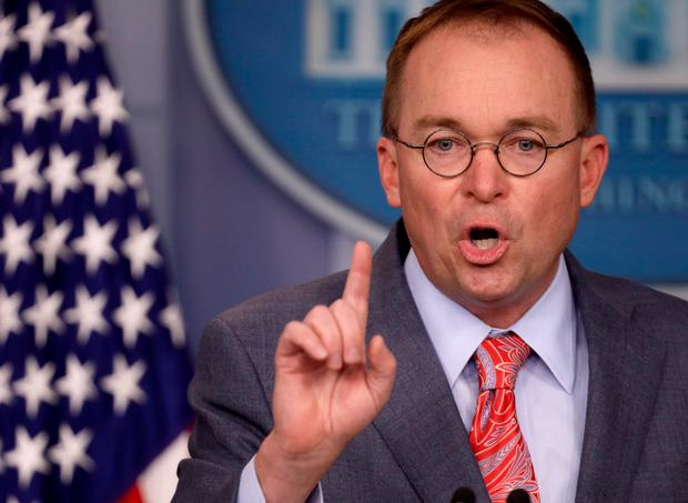 Controversy: Acting White House chief of staff Mick Mulvaney