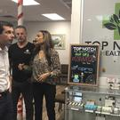 Democratic presidential candidate Pete Buttigieg tours a legal marijuana dispensary in suburban Las Vegas (Michelle L. Price/AP)
