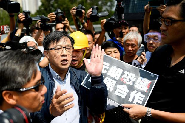 Attacked: Pro-China politician Junius Ho was stabbed. Photo: Manan Vatsy/AFP/Getty
