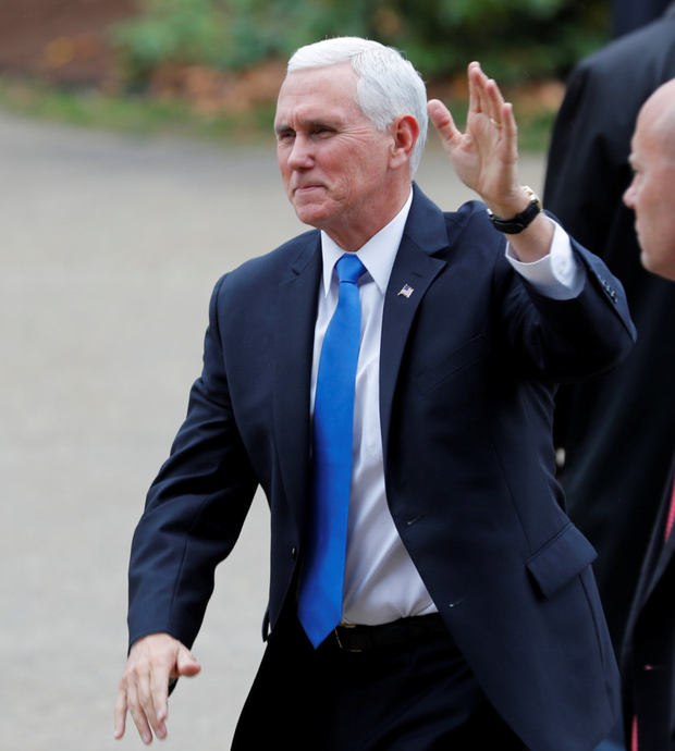 US Vice President Mike Pence denies book's claims. Photo: Reuters