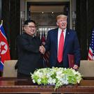 US president Donald Trump and leader of North Korea Kim Jong-un met in Singapore and Vietnam (Kevin Lim/The Straits Times)