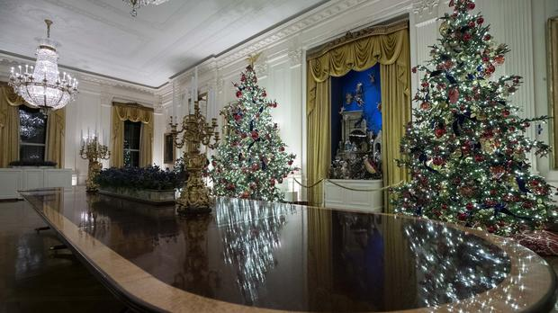 Some of the decorations at the White House (Alex Brandon/AP)