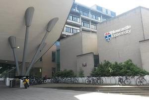 Newcastle University medical school where the two students, Neil Dalton and Aidan Brunger, studied