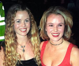 Television presenter Amanda Holden (right) has revealed that her sister, Debbie (left), was trapped on Mount Everest after the earthquake in Nepal.