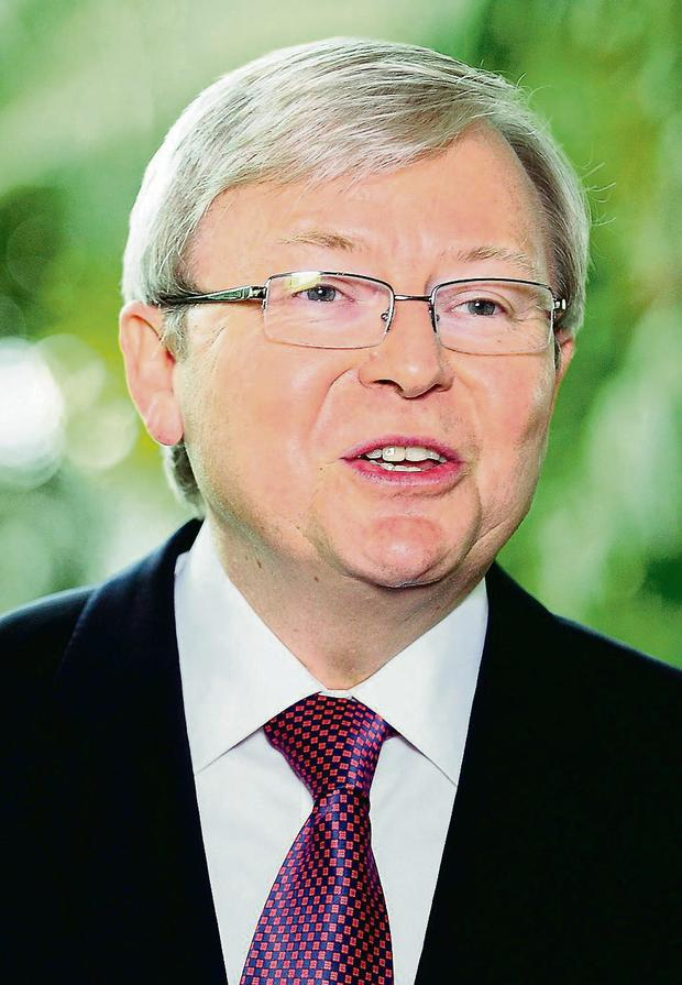 Prime Minister Kevin Rudd: announces draconian policy