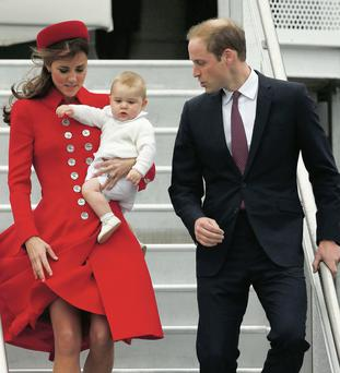 Prince William, Kate Middleton and Prince George.
