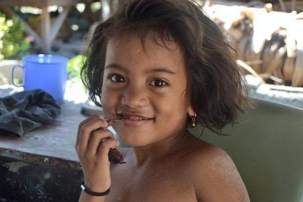'Infant mortality is over 10 times the rate of that in Ireland' — Little Aareau lives on the remote island of North Tarawa in Kiribati. She had never seen a camera before.