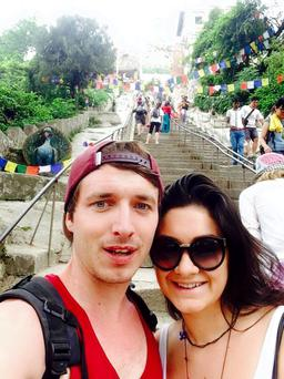 Arron Conran and Alex Murphy who survived the Nepal earthquake