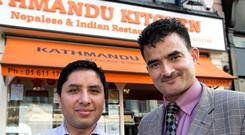 HOME THOUGHTS FROM ABROAD: Nabaraj Koirala and Ganesh Prasai who have family in Nepal